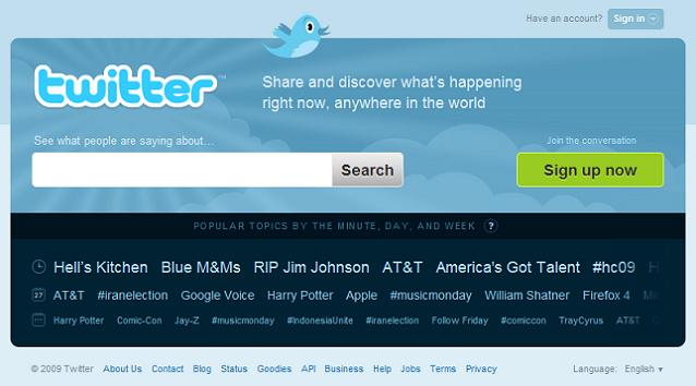 Twitter gots its new home page.