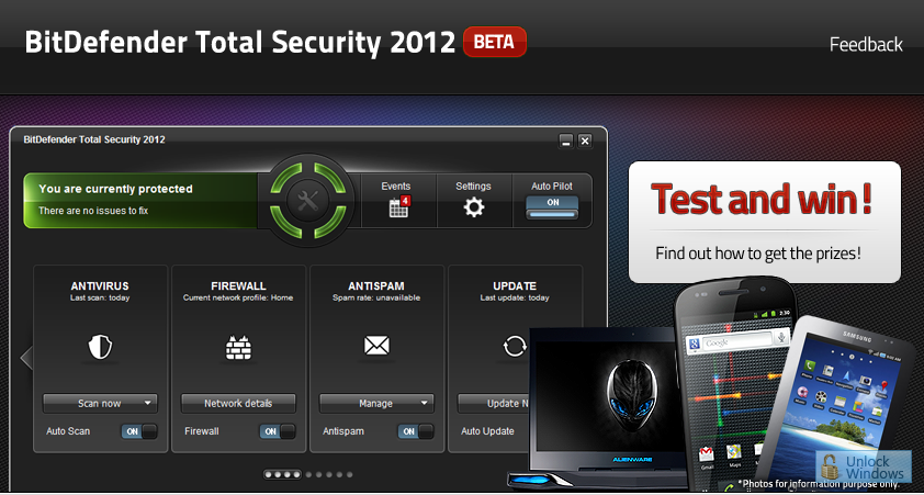 Bit Defender Total Security 2012 Beta Campaign – Test and Win