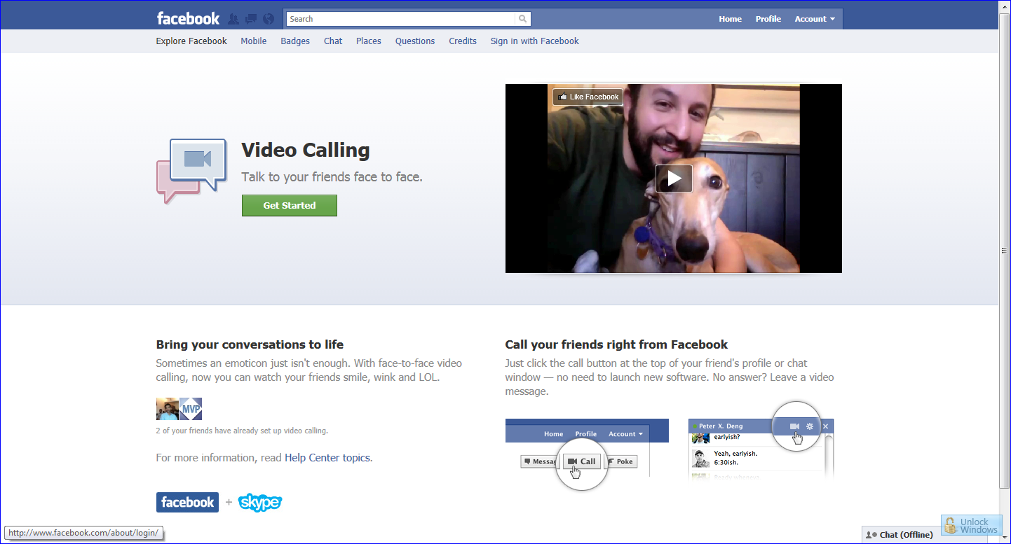 Facebook Video Chat is live now, start right now