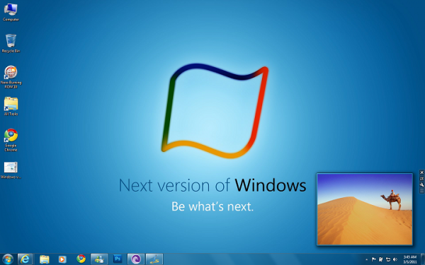 Download: Windows 8 (Windows vNext) theme pack for Windows 7