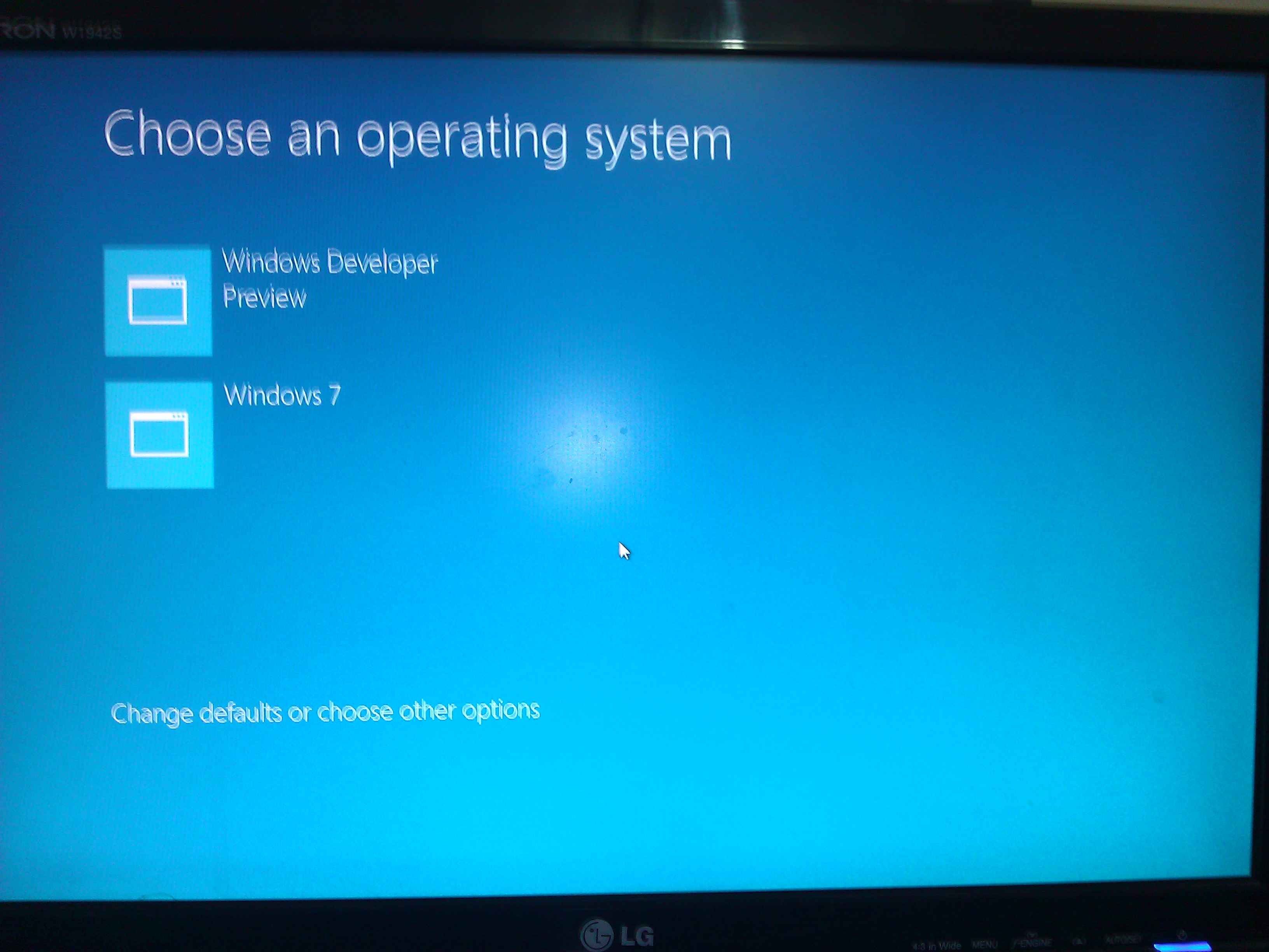 how to change windows cmdto an os