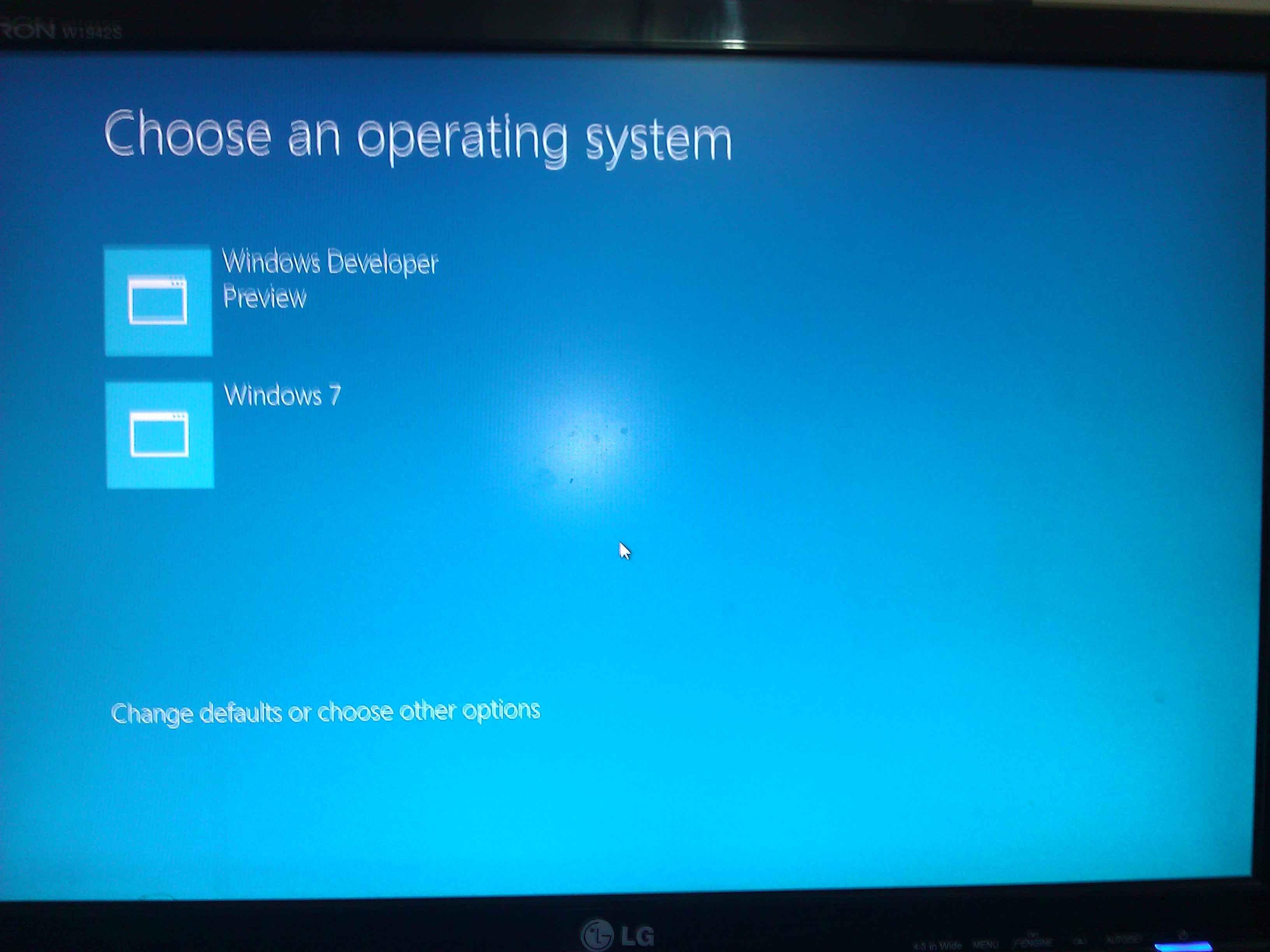 New boot menu in windows 8 developer preview for Choosing new windows
