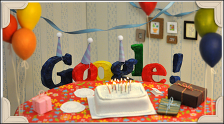 Happy Birthday Google, turns 13