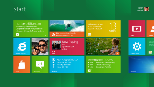 Installation Screenshots of Windows 8 Developer Preview
