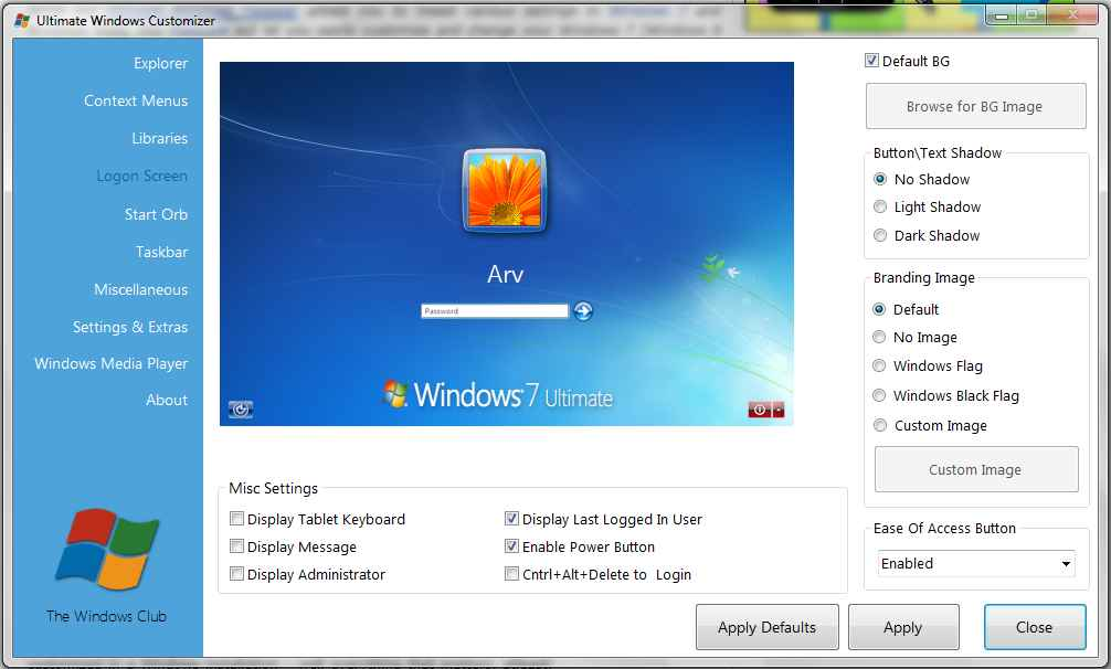 Ultimate Windows Customizer