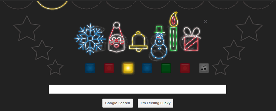 Google wishes Merry Christmas via Musical Google Doodle