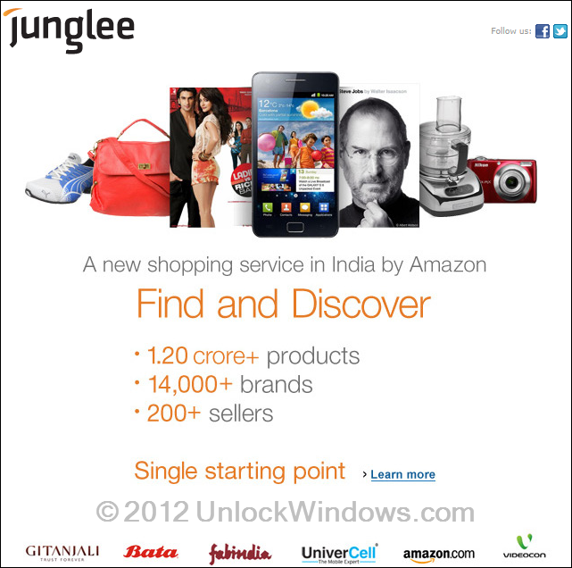 Junglee an Amazon service for India