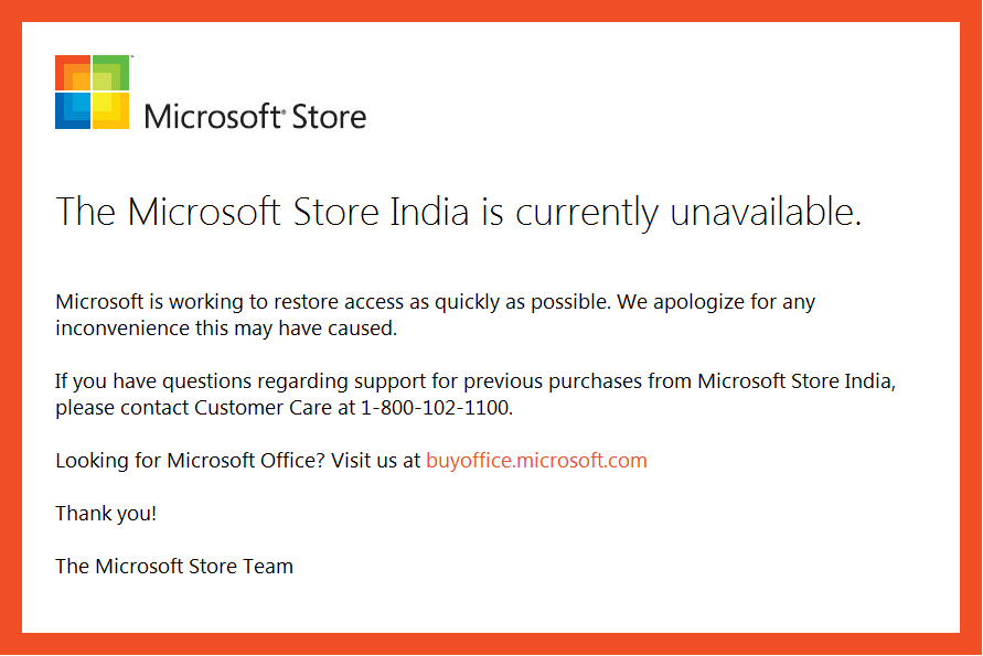 Microsoft Store India WebSite Hacked