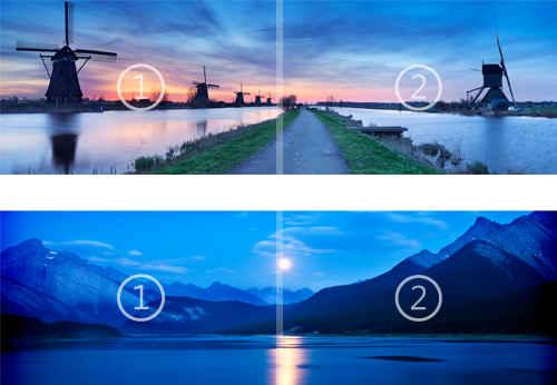 Nightfall and Starlight panoramic theme for Windows 8