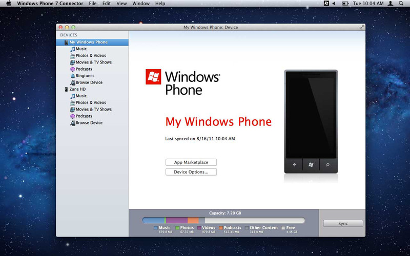 Windows Phone 7 Connector for Mac