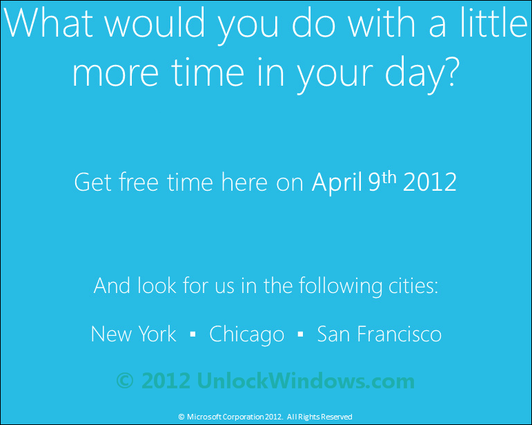 Windows Phone Time Machine Promotion