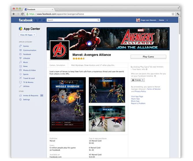 Facebook AppCenter