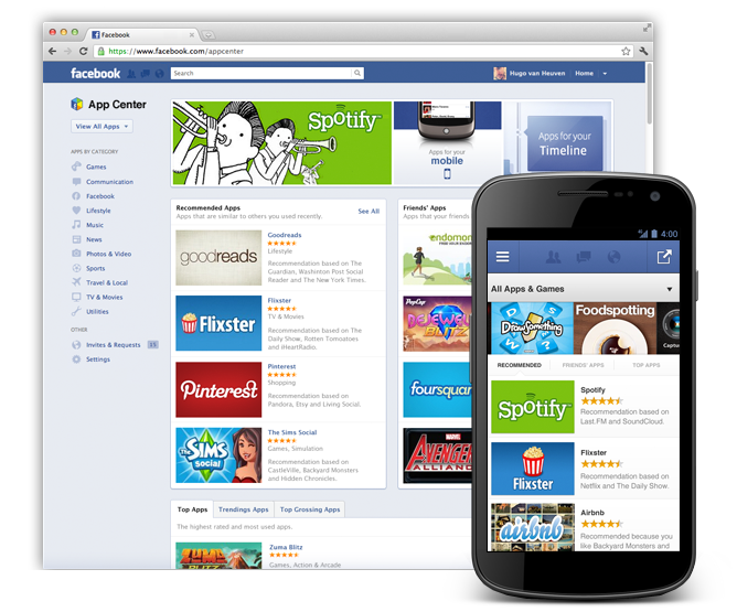 Facebook AppCenter