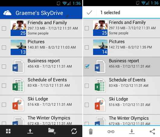 SkyDrive for Android Phone