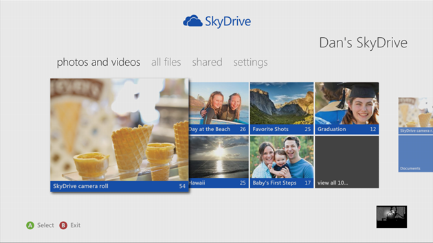 SkyDrive app for Xbox 360