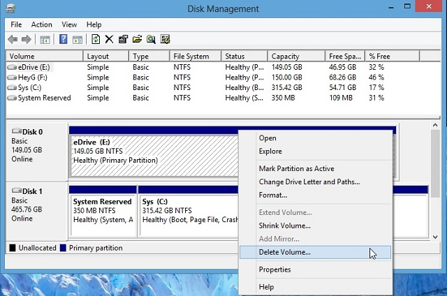Convert MBR into GPT disk in Windows