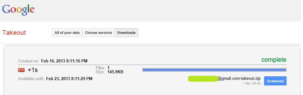 Google Data Download
