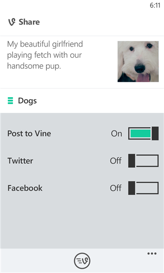 Vine for Windows Phone 8