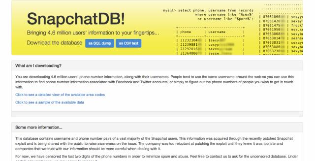 SnapChat accounts hacked