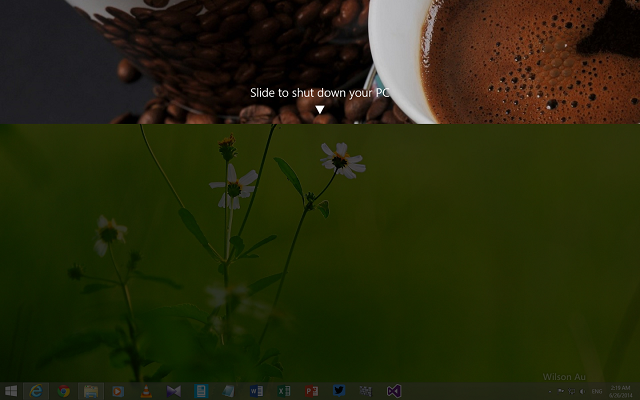Slide To Shutdown in Windows 8