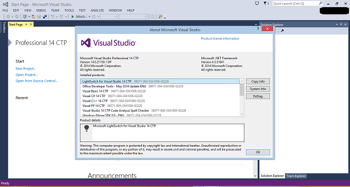 Visual Studio 14 CTP