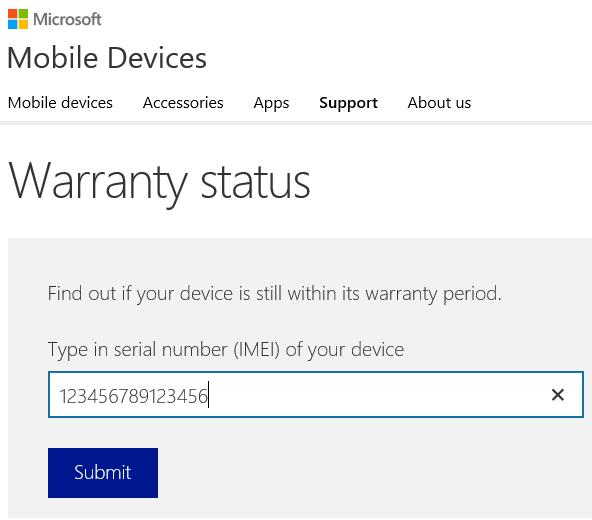 Nokia Warranty Check