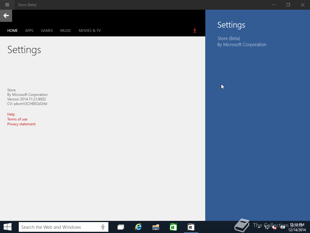Windows 10 Build 9901 Store Beta