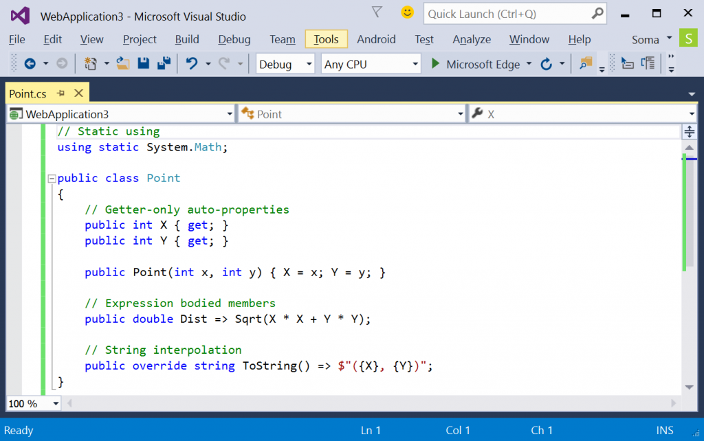 Visual Studio 2015 C Sharp