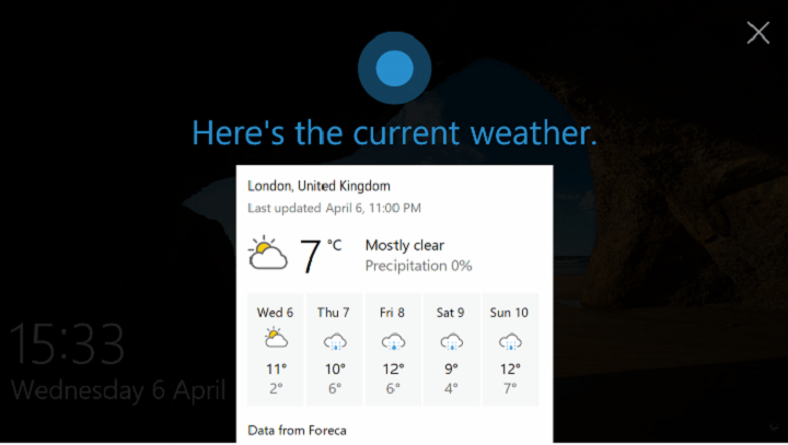 How to Enable Hey Cortana on Lock Screen in Windows 10