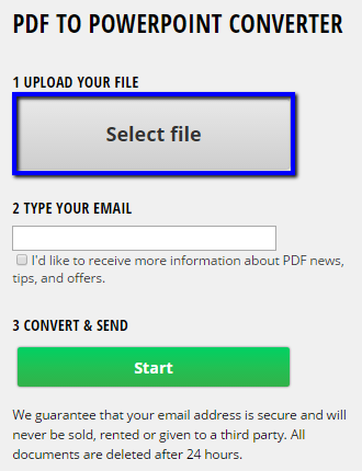 Convert PDF to PowerPoint using free tool online