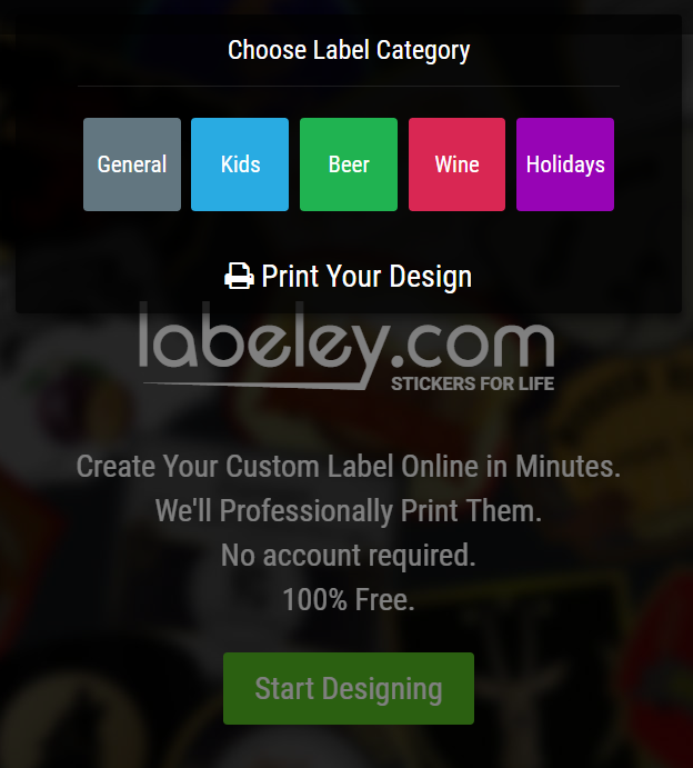 create label online frree