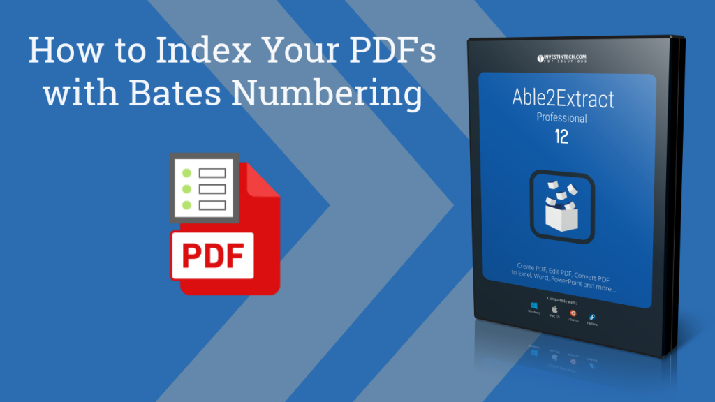 Able2Extract Professional PDf Bates Numbering