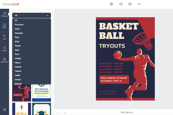 DesignCap_Create_Online_Flyers_Posters_2